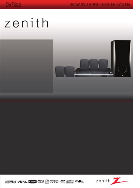zenith home theater system dvt812 user guide