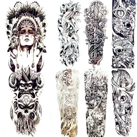 flash tattoos are the biggest tribal indians totem temporary god original black