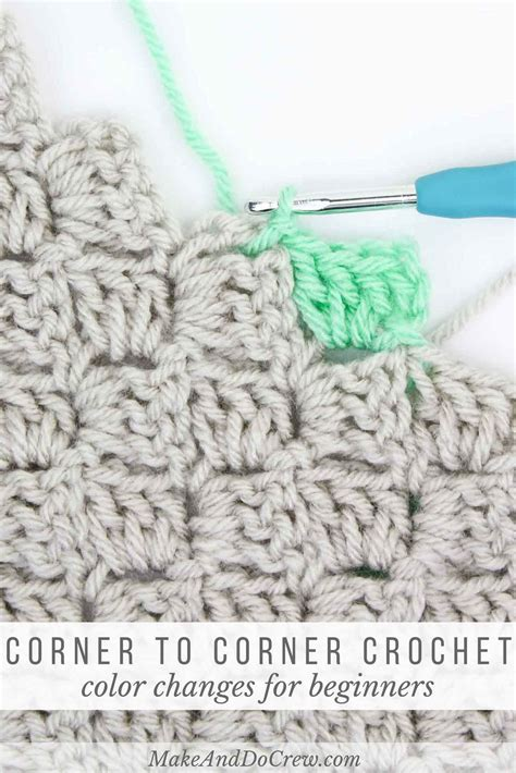 how to change colors in crochet how to change colors in corner to corner crochet
