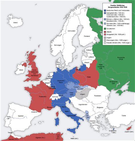 ww2 map world war ii in europe 1935 1939 size