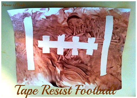 football craft projects house of burke resist football