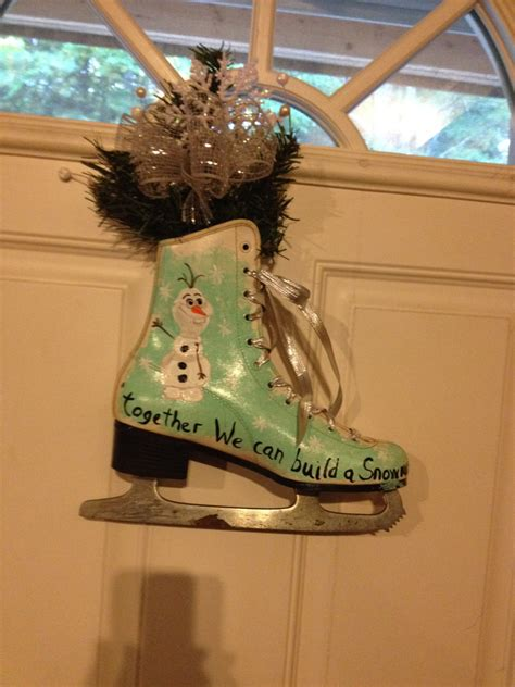 Skate Decoration by Painted Skate Door Decoration By Mypaintedtreasures