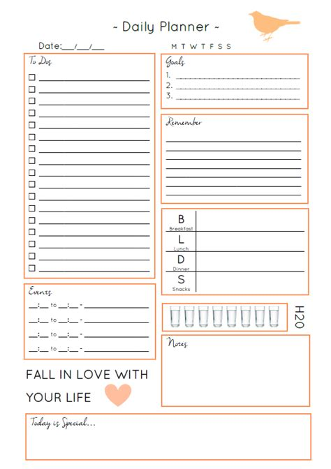 Make The Most Of Everyday Free Daily Planner Download Free Printables Pinterest Planners Day Timer Template Word