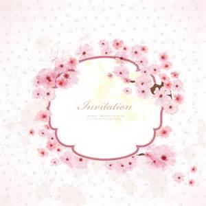 pink flower frame wedding invitation cards vector 01