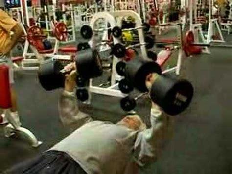 Barbel Dumbel Plastik Isi Pasir mike brown age 64 doing 4 reps with 115 lb dumbbells