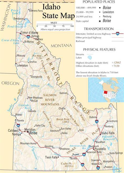 map of usa idaho usa map idaho state afputra