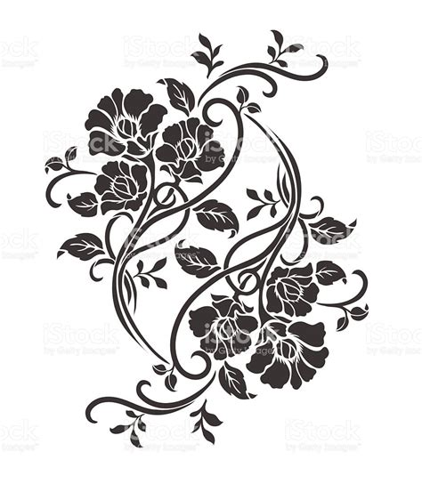 flower motif for design stock vector art amp more images of