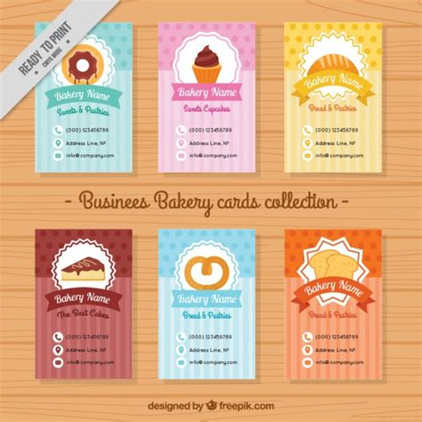 collection of cute bakery menu template vector free download