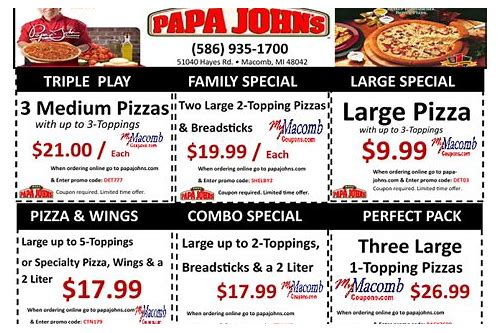 papa john's wednesday coupon code
