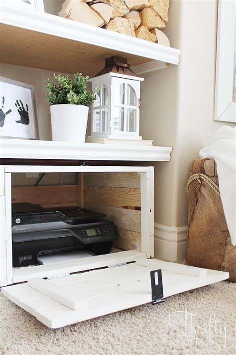 hidden printer cabinet best 25 printer storage ideas on pinterest desk