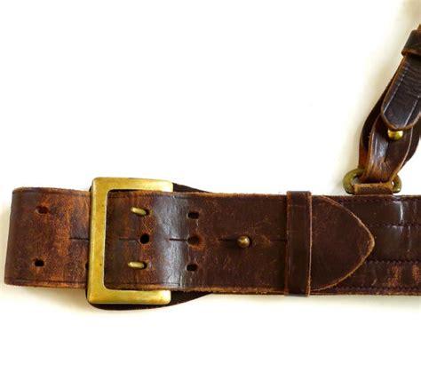 vintage sam browne belt pre wwii era size 30
