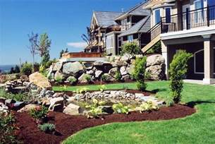 Landscaping Ideas For A Sloped Backyard Landscapes Ideas Sloped Front Yard Landscaping Ideas Small Backyard Landscaping Ideas On A