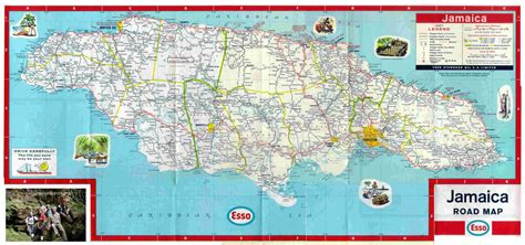 printable map of jamaica with parishes large detailed road and tourist map of jamaica jamaica