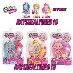 Shopkins shoppies 3 doll set jessicake popette bubbleisha amp 6