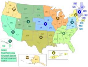 8 regions of the united states map epa regional lead contacts lead us epa