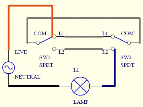 two way light switch wiring