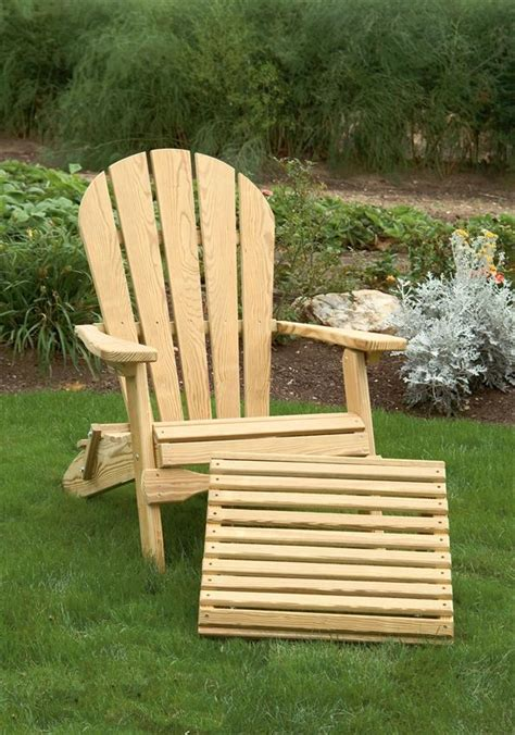 folding adirondack chair with ottoman amish pine folding adirondack chair with optional ottoman