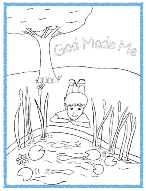 free god made me a boy coloring pages