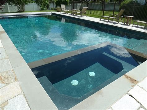 pools with spas rectangle gunite in ground swimming pool and spa with