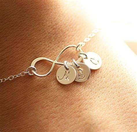 personalized infinity bracelet with initials mothers