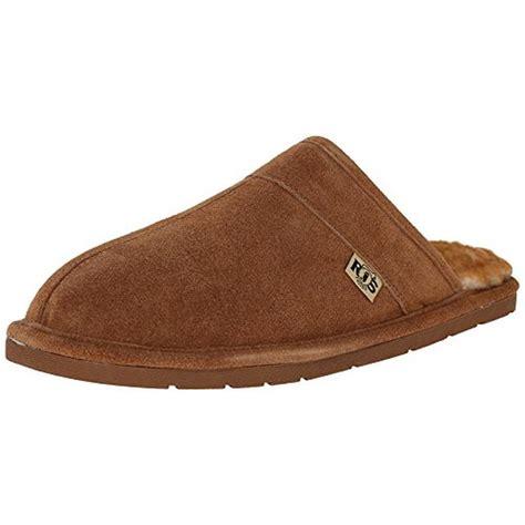 slide in slippers lamo 9728 mens scuff suede fleece lined slide mule