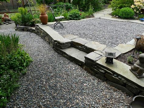 how to make a pea gravel patio inch rock patio and