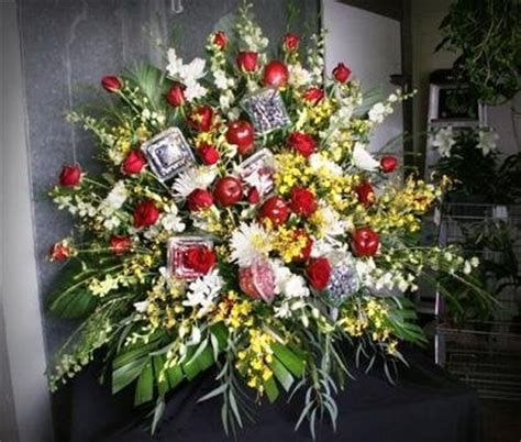 flower arrangement pictures with theme funeral flower sprays this one has a theme of produce
