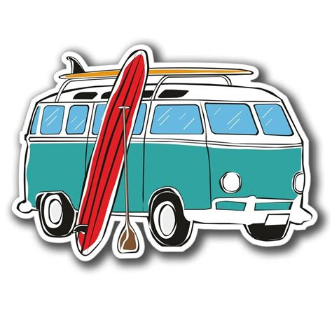 volkswagen van with surfboard clipart surfer clipart van pencil and in color surfer clipart van