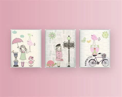 Nursery Wall Art Print Baby Room Decor Baby Girl Paris Etsy Nursery Decor