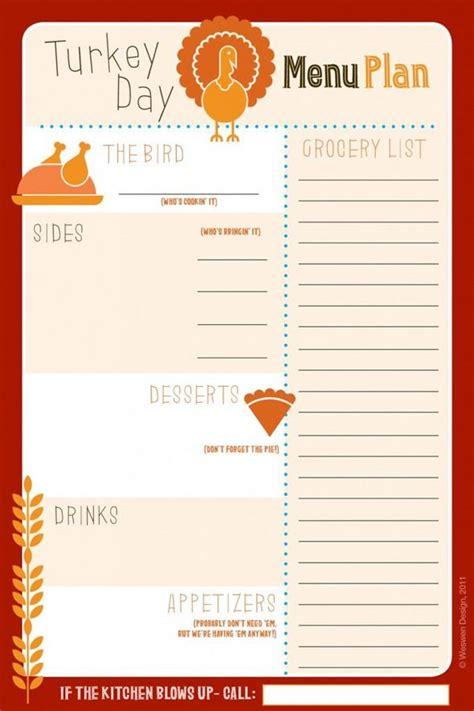 printable wedding menu planner 27 free thanksgiving printables thanksgiving menu