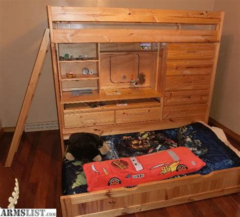 Armslist For Sale Quality Pine Bunk Bed W Desk And Dresser Pine Bunk Beds For Sale