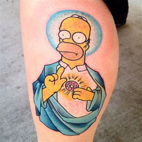 bart simpson tattoo craziest homer tattoos best tattoos 2018