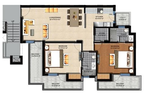 flat layout design sushma green vista zirakpur ready to move in 2bhk flats in