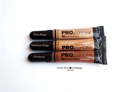 La Hd Pro Concealer Chesnut by L A Pro Conceal Hd Concealer Review Swatches