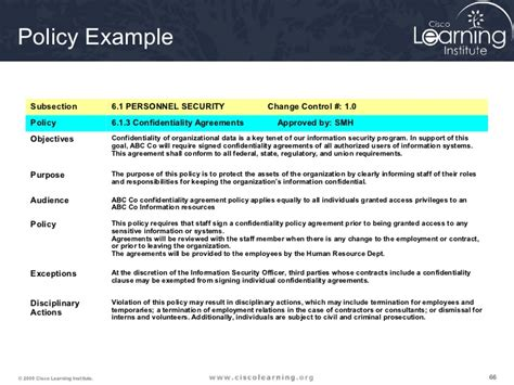 organizational security policy template image collections