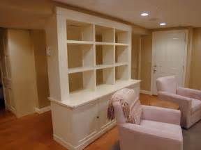 Basement Wall Cabinets Eclectic Basement Living Space