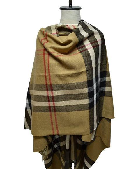 ruanas pashminas ponchos ropa y accesorios en ruana escoces ingles camel comprar en anteprima