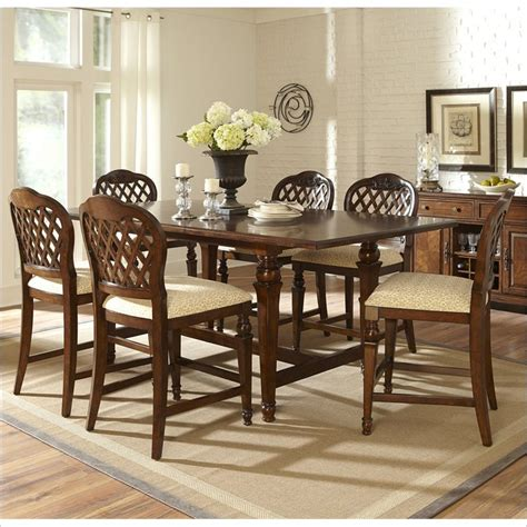 hillsdale woodridge 7 counter height dining set in