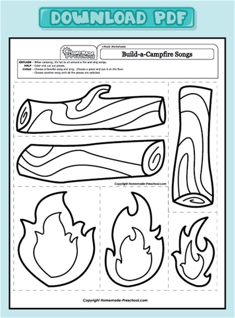cfire crafts for pin preschool printables safety calendar on