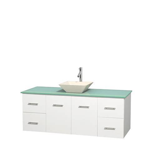 60 Inch Bathroom Vanity Single Sink White by Wyndham Collection Wcvw00960swhggd2bmxx Centra 60 Inch