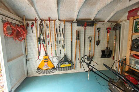 install pegboard walls   storage
