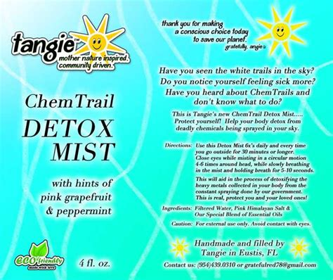 Detoxing From Chemtrails by Carnicom Asked To Do Direct Sles Metabunk