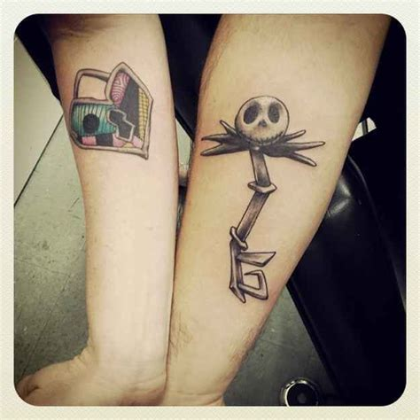 jack skellington and sally tattoos skellington key and sally lock tattoos