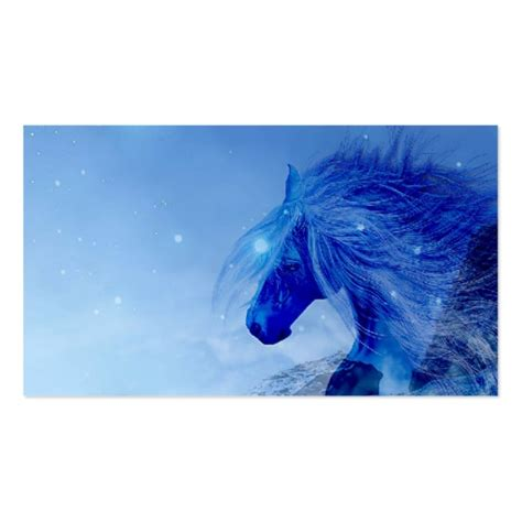 Equine Business Cards Templates by Blue Business Card Templates Zazzle