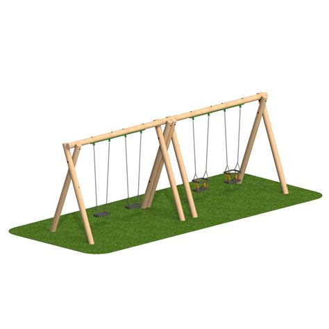 cradle swing uk timber swing 2 flat seat 2 cradle seat playscape playgrounds