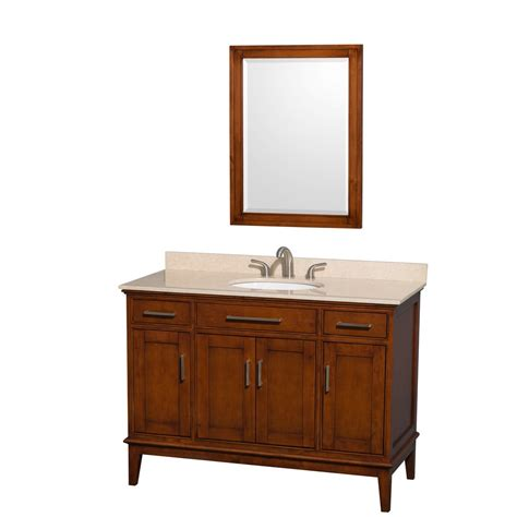 Traditional Vanity Lights Hatton 48 Quot Traditional Single Bathroom Vanity Light Chestnut
