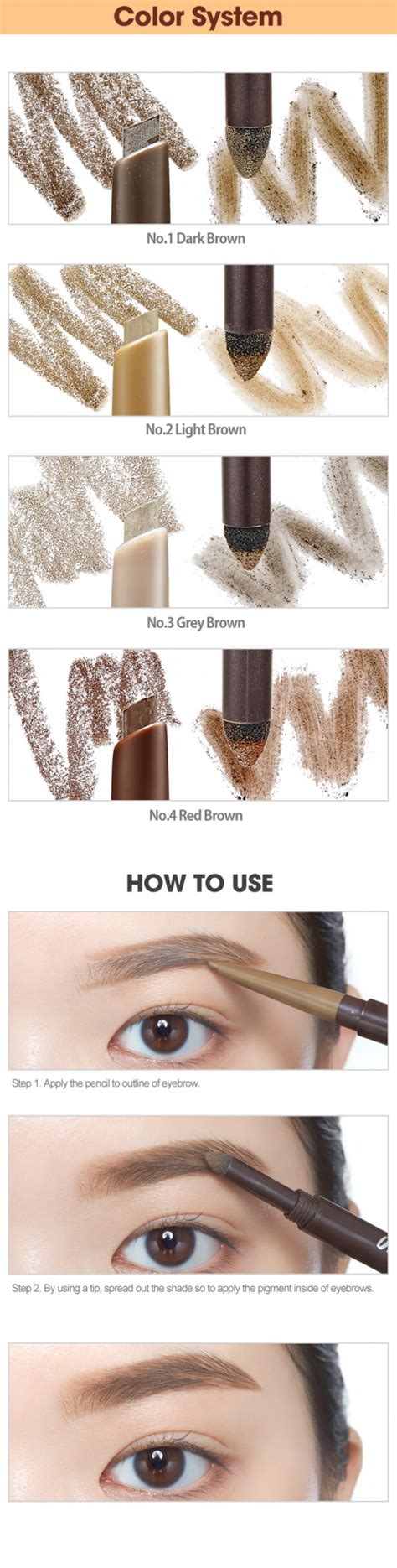 Etude Drawing Eye Brow Brown etude house drawing eye brow duo ibuybeauti