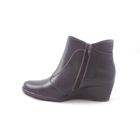 brown leather wedge ankle boot from size4footwear uk