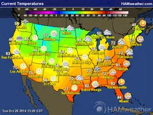 weather map temps current temperature map my