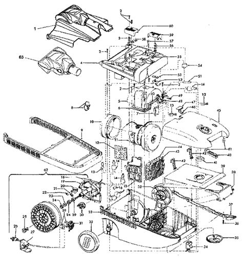 miele vacuum parts diagram hoover s3639 windtunnel canister vacuum repair parts